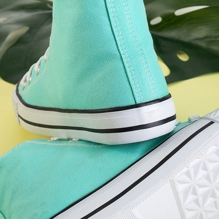 Antonella mint women's high sneakers - Footwear