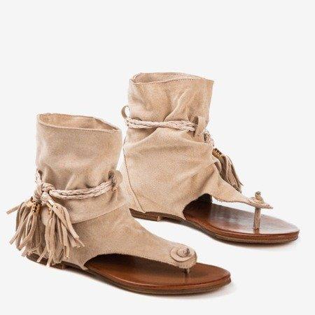 Beige flip-flops with Semara shank - Footwear