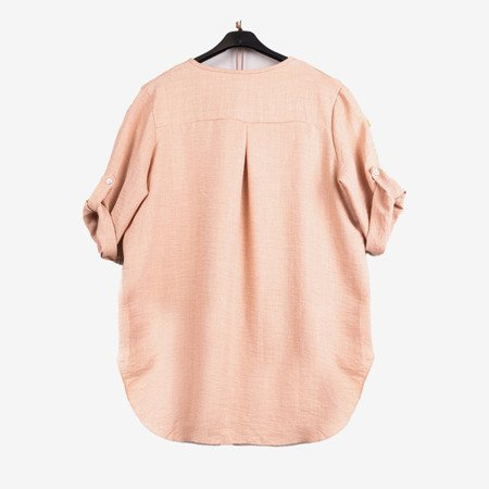 Beige ladies classic tunic - Blouses 1