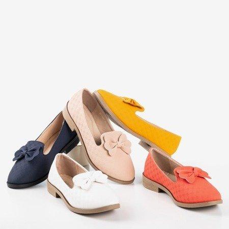 Beige moccasins with Flavisa bow - Footwear 1