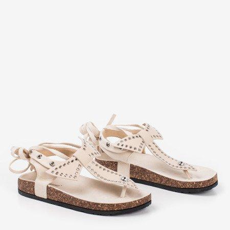Beige sandals tied Celione - Footwear