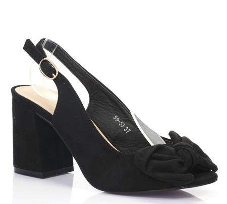 Black Celeste low-heeled sandals - Footwear