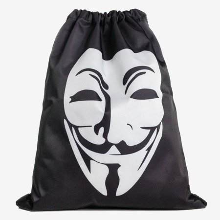 Black and white backpack bag type with mask - Backpacks 1
