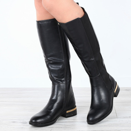 Black boots with eco leather - Footwear
