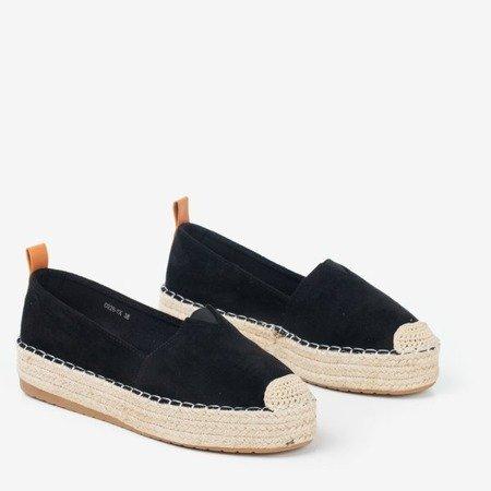 Black espadrilles on the Umox platform - Footwear