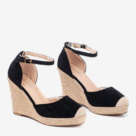 Black espadrilles on the wedge Bonita - Footwear