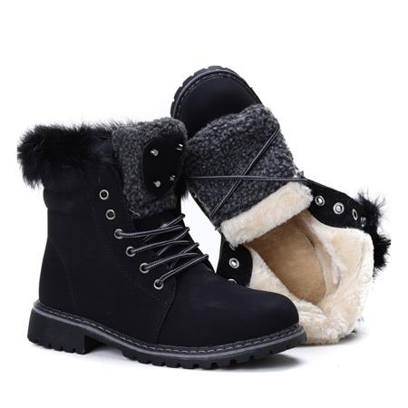 Black insulated Shira boots - Footwear