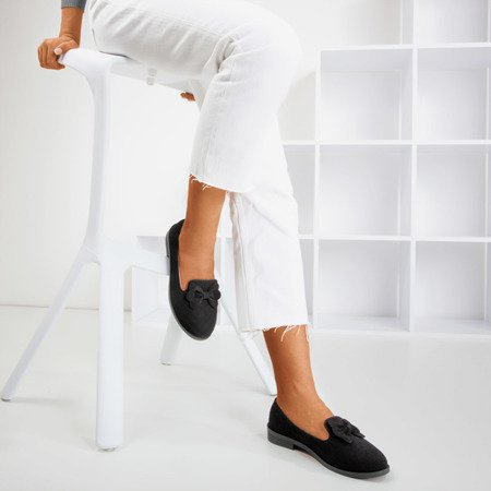 Black loafers with Flavisa bow - Footwear 1