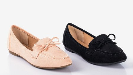 Black loafers with a bow Sweet Nothing - Shoes 1