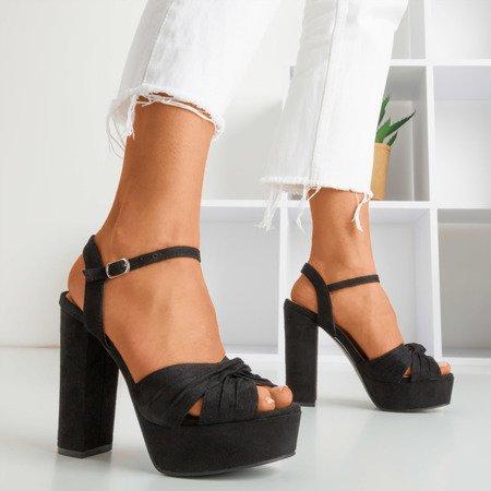 Black sandals on the higher post Quesirra - Footwear 1