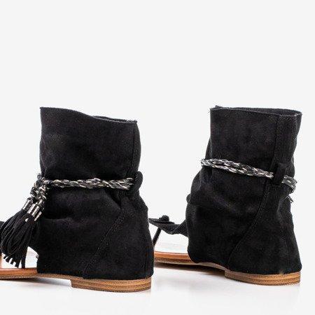 Black sandals with Semara shank - Footwear