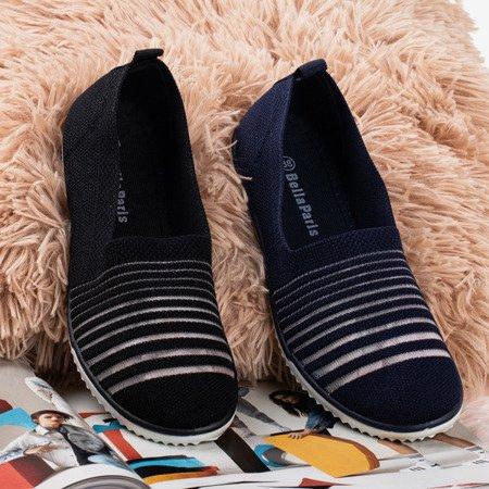 Black slip-on sneakers Yeqa - Footwear 1