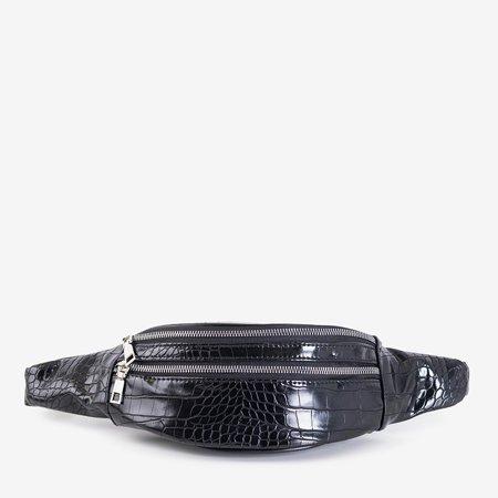 Black snakeskin purse - handbags