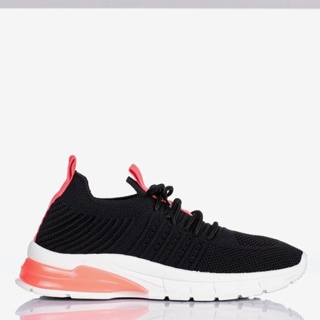 Black sports shoes with neon pink Brighton inserts - Footwear 1