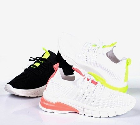 Black sports shoes with neon yellow Brighton inserts - Footwear 1