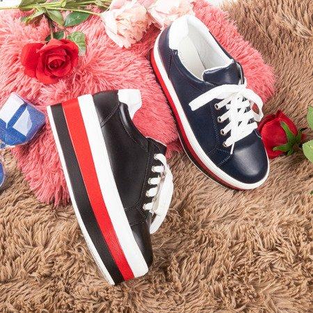 Black sports sneakers on the Dishye platform - Footwear 1