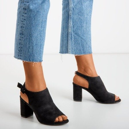 Black women's sandals on a post with an Roxbell upper - Footwear 1