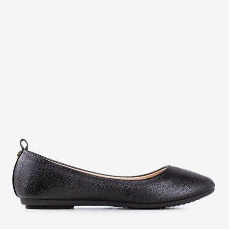 Black women's ballerina eco-leather Nastis - Footwear 1
