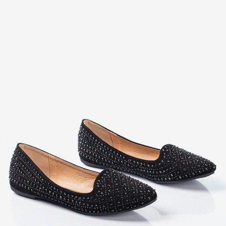 Black women's ballerinas with Dew zircons - Footwear 1