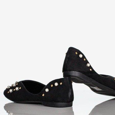 Black women's ballerinas with Emanossa pearls - Footwear 1
