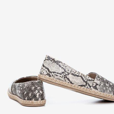 Black women's espadrilles à la Mirisa snake skin - Footwear 1