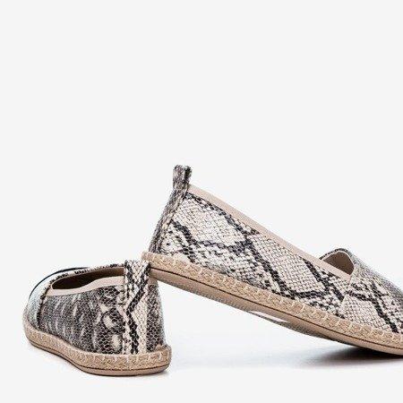 Black women's espadrilles a'la Fulimpa snake skin - Footwear 1