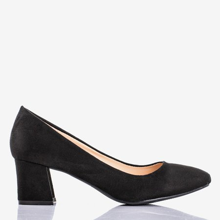 Black women's pumps on the low post Give Love - Footwear 1