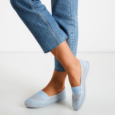 Blue ballerinas made of Noremies material - Footwear 1