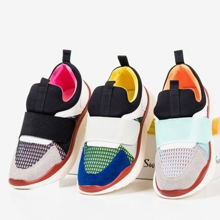 Blue sports shoes with colorful Mendora inserts - Footwear 1