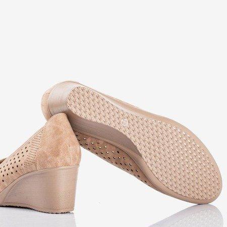 Brown wedge heels with an openwork Polia finish - Footwear