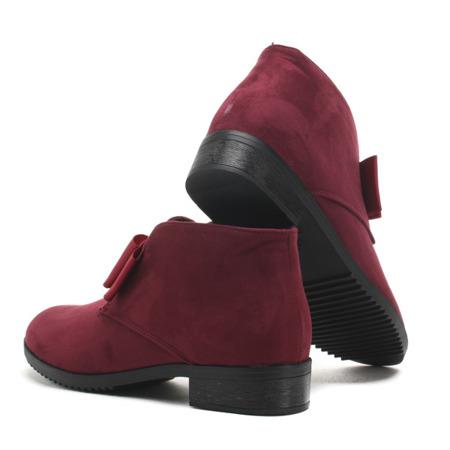 Burgundy suede ankle boots Seanna - Footwear