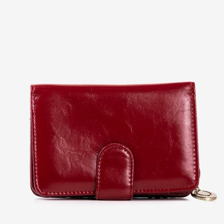 Burgundy wallet made of ecological leather - Wallet