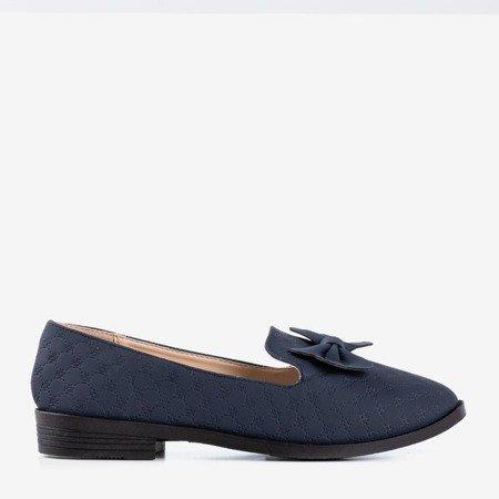Dark blue loafers with Flavisa bow - Footwear 1