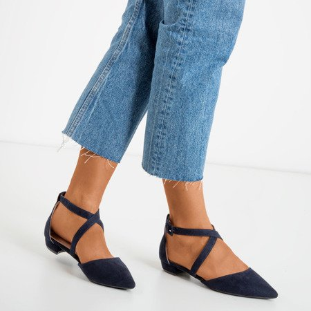 Dark blue low-heeled sandals Philadelphia - Footwear 1
