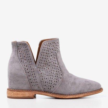 Gray cowboy boots a'la cowboy boots Besis - Footwear