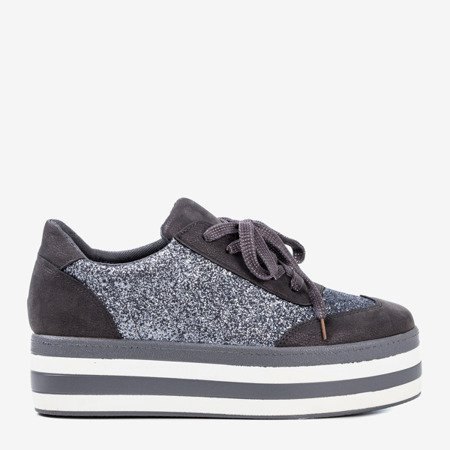Gray shoes on the Keily platform - Footwear 1