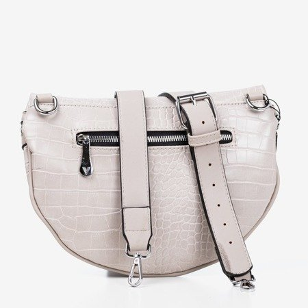 Gray small kidney bag with animal embossing - Bags