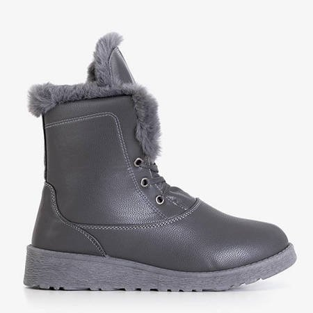 Gray snow boots with fur Cool Breeze - Footwear