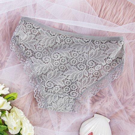 Gray women's lace panties PLUS SIZE - Underwear