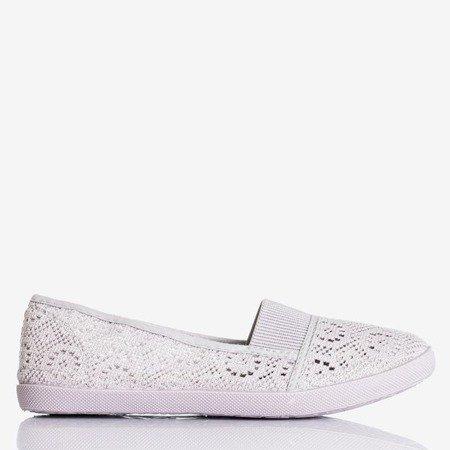Hermione Gray Women's Lace Ballerinas - Footwear