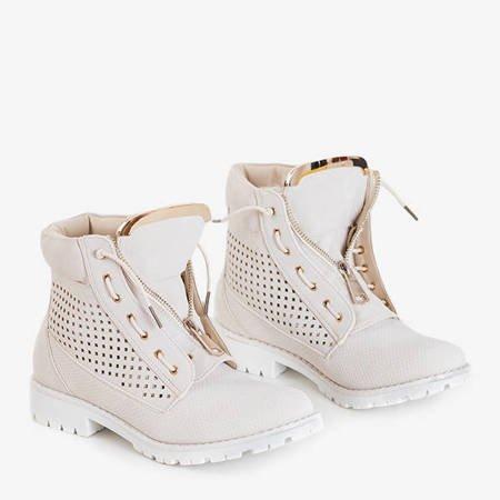 Ice Love beige openwork women's hiking boots - shoes