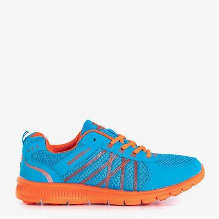 Kengo Blue and Orange Women's Sports Shoes - Footwear
