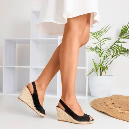 Lacasia women's black wedge sandals - Shoes