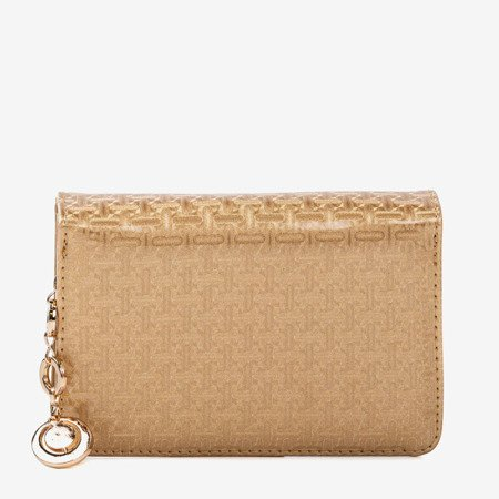 Lacquered small women's wallet in gold - Wallet