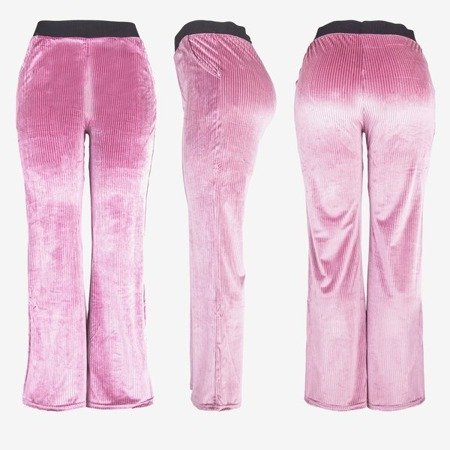 Ladies 'pink straight pants - Trousers