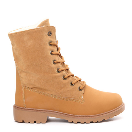 Light brown insulated Brynn boots