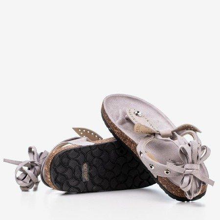 Light gray flip-flops Celione - Footwear