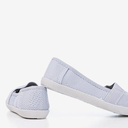 Light gray girls' openwork slip - on Nugas- Footwear