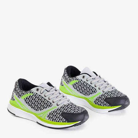 Light gray women's sports shoes with Edgar patterns - Footwear