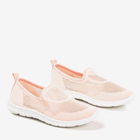 Light pink women's slip-on sport shoes - on Boreia - Footwear 1